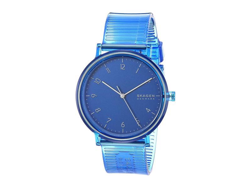 スカーゲン メンズ 腕時計 アクセサリー Aaren Transparent Three-Hand Watch SKW6602 Blue Si