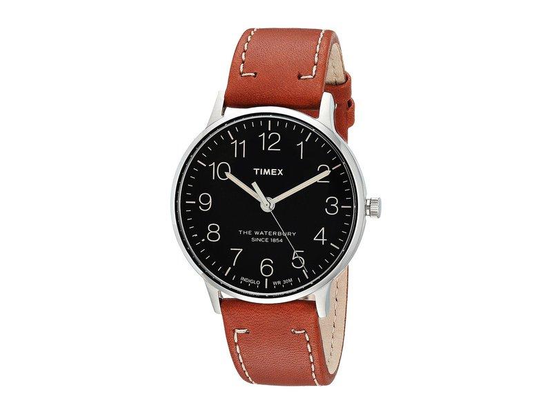 お買得 送料無料 サイズ交換無料 タイメックス 推奨 メンズ アクセサリー 腕時計 Brown Waterbury Classic Black 40