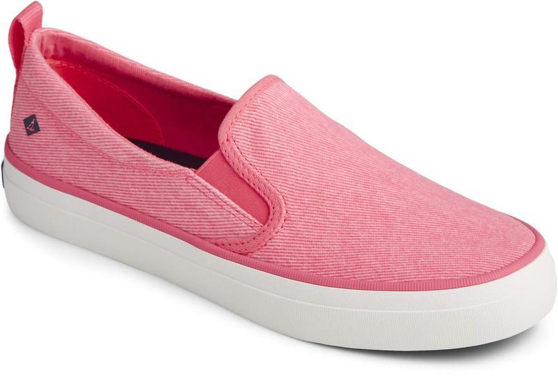 スペリー レディース スニーカー シューズ Crest Twin Gore Washed Twill Neon Pink