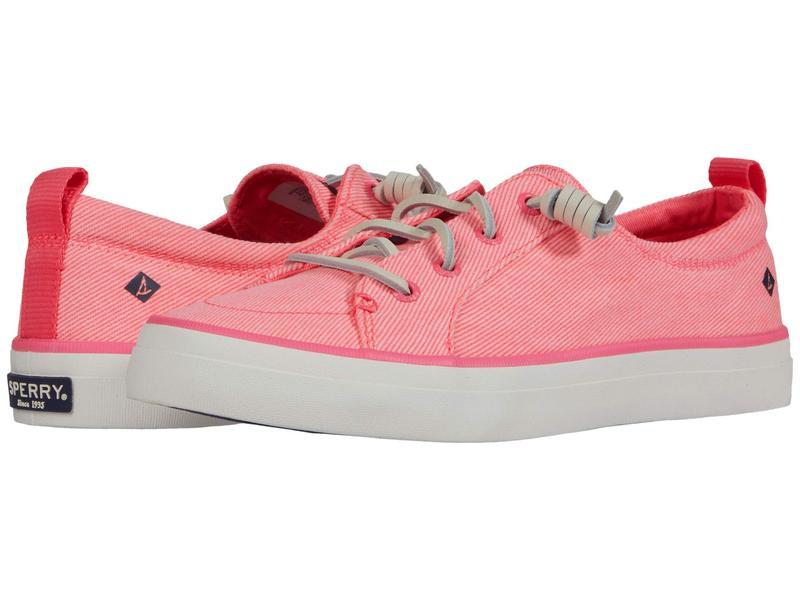 スペリー レディース スニーカー シューズ Crest Vibe Washed Twill Neon Pink