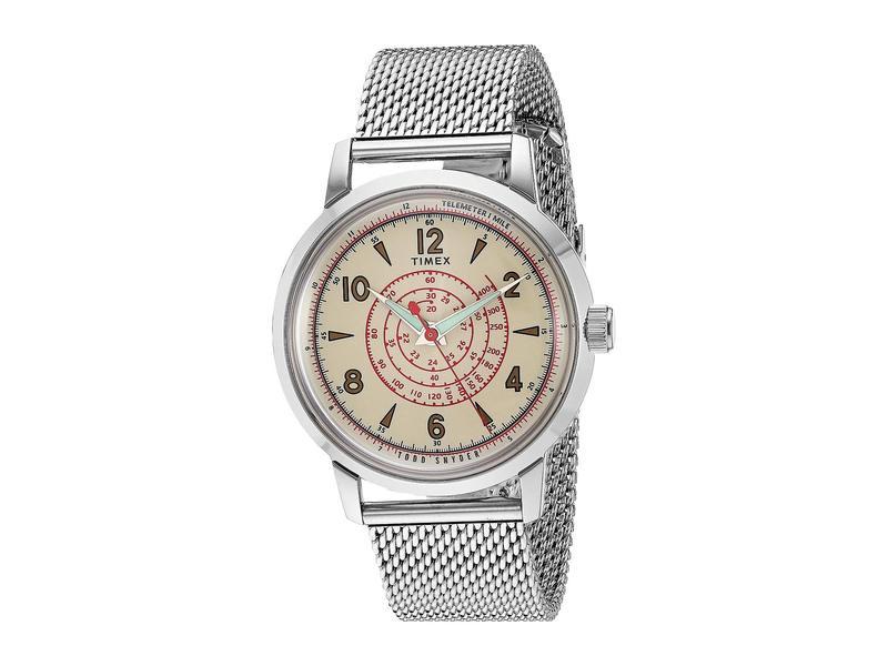 タイメックス メンズ 腕時計 アクセサリー x Todd Snyder Beekman Timex 40 mm Silver/Cream/Si