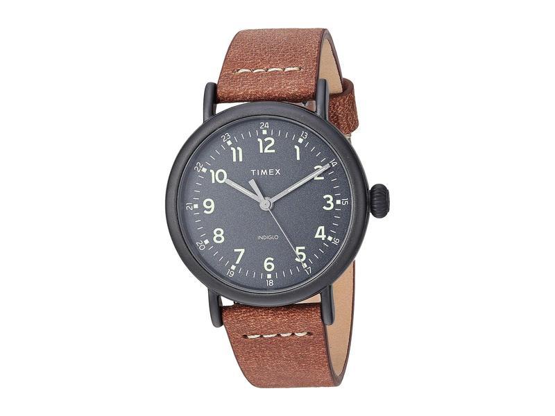 タイメックス メンズ 腕時計 アクセサリー 40 mm Standard 3-Hand Black/Black/Bro
