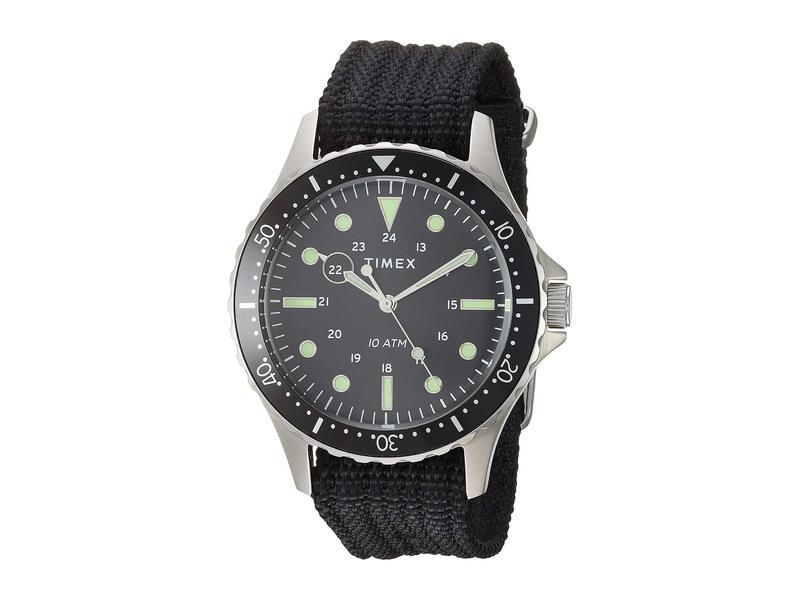 タイメックス メンズ 腕時計 アクセサリー 41 mm Navi XL 3-Hand Silver/Black/Bl