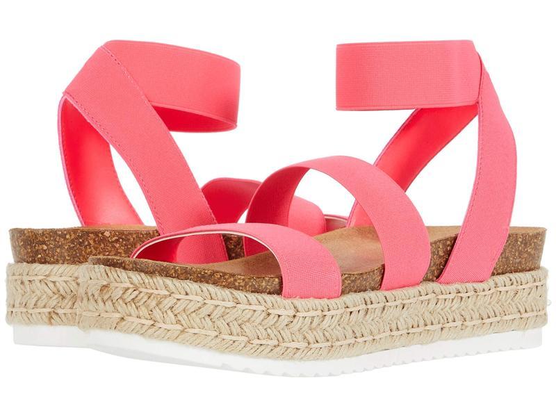 スティーブ マデン レディース サンダル シューズ Kimmie Espadrille Sandal Pink Neon