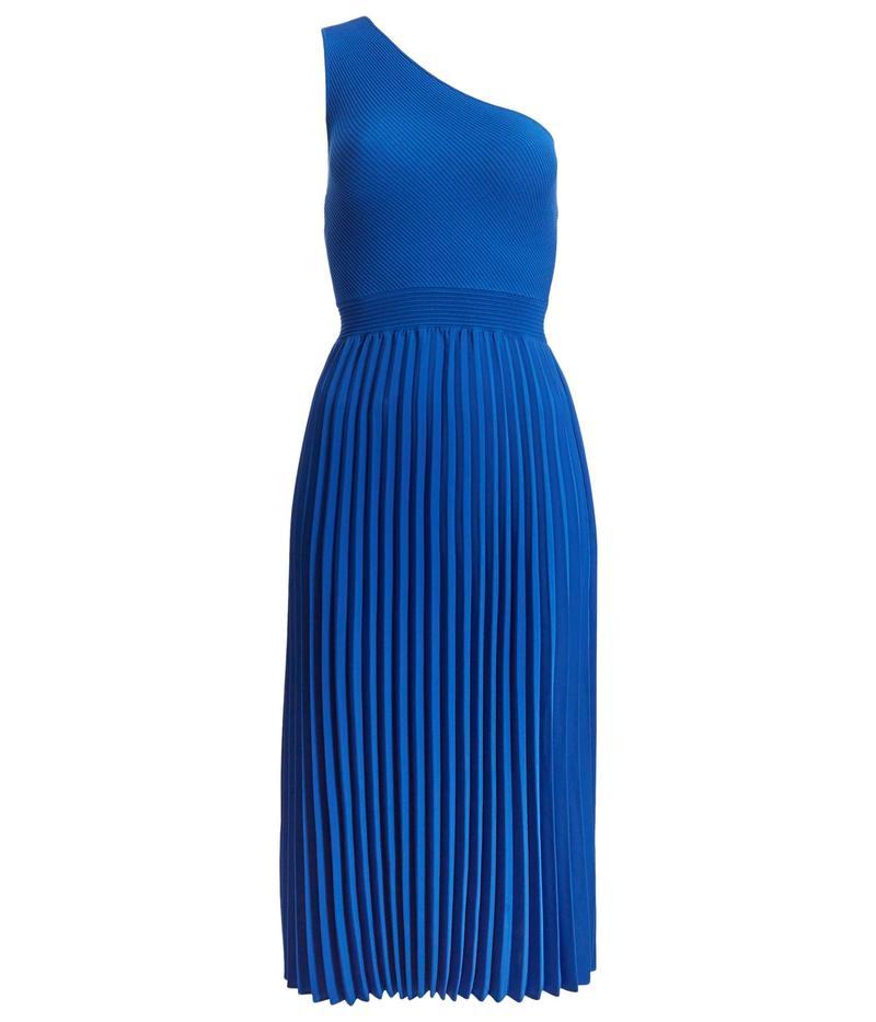 テッドベーカー レディース ワンピース トップス Miriom Asymmetric Knitted Midi Dress Bright Blue