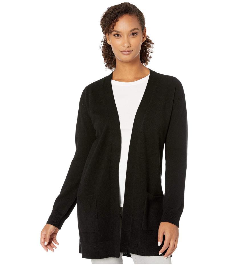 トリバル レディース ニット・セーター アウター Long Sleeve Cashmere Sweater Cardigan Black