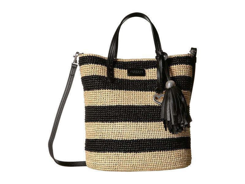 ブライトン レディース ハンドバッグ バッグ Dita Stripe Bucket Bag Black/Natural