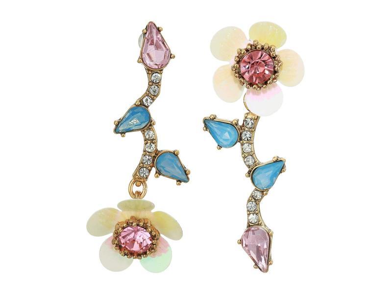 ベッツィジョンソン レディース ピアス・イヤリング アクセサリー Flower Mismatch Earrings Multi