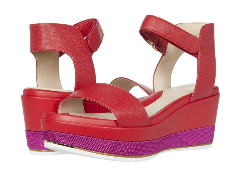 コールハーン レディース ヒール シューズ Grand Ambition Flatform Wedge Sandal 65 mm Tango Red Tumbl