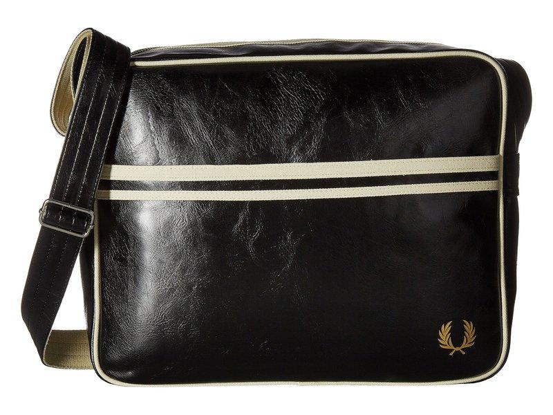 フレッドペリー メンズ ビジネス系 バッグ Classic Shoulder Bag Black/Ecru