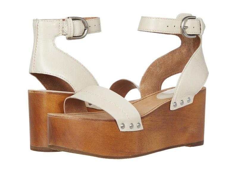 フライ レディース ヒール シューズ Alva Flatform Sandal Off-White