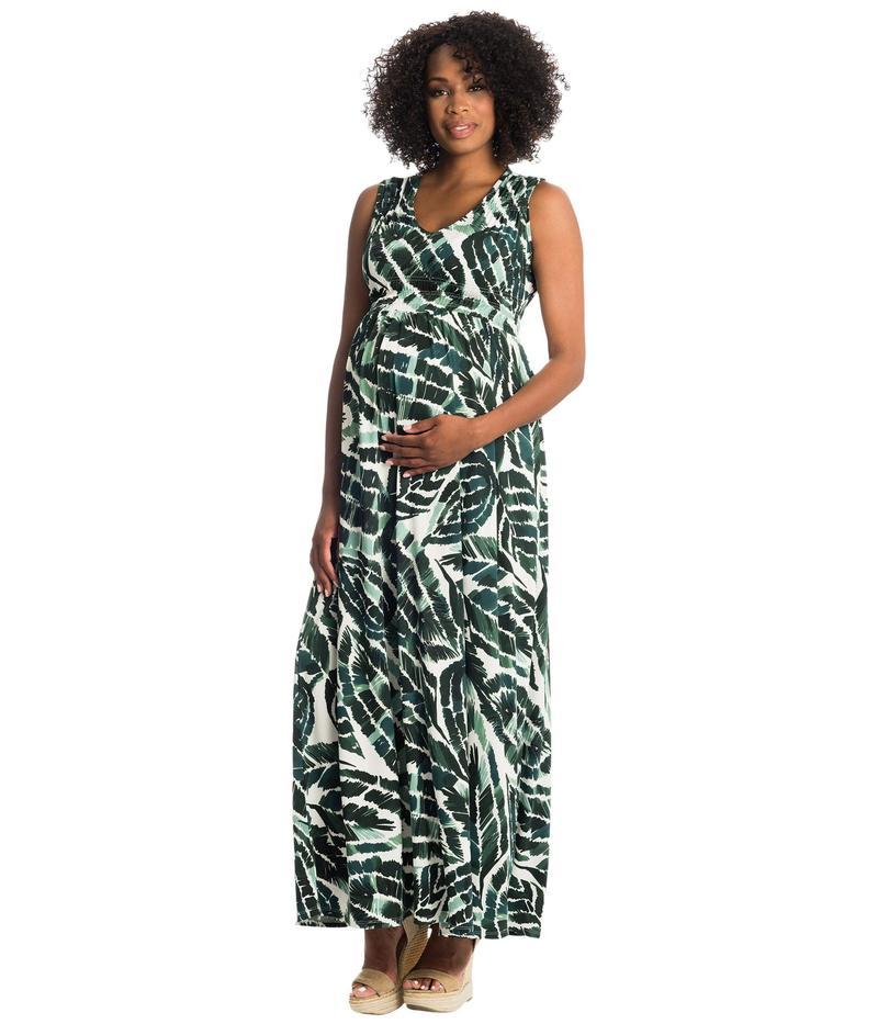 エヴァリーグレー レディース ワンピース トップス Valeria Maternity/Nursing Dress Palm