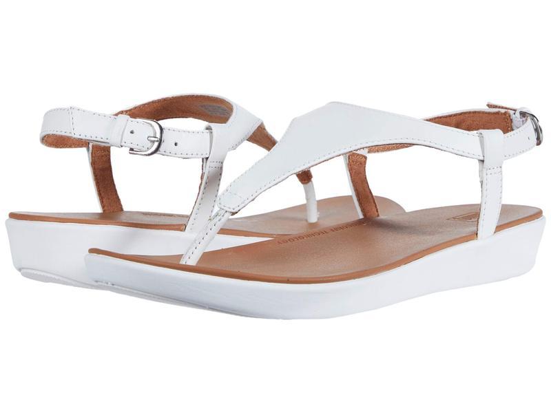 フィットフロップ レディース サンダル シューズ Lainey Toe-Thong Back-Strap Sandal Urban White