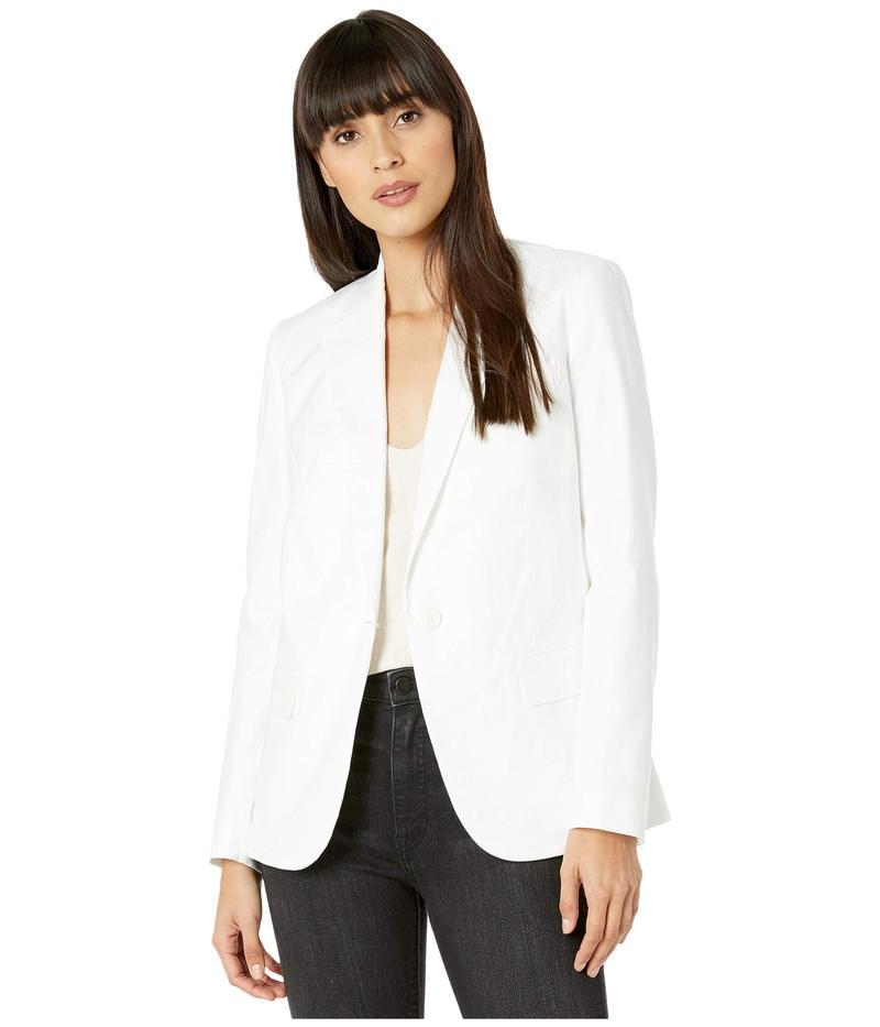 セブンフォーオールマンカインド レディース コート アウター Notch Collar Blazer Optic White