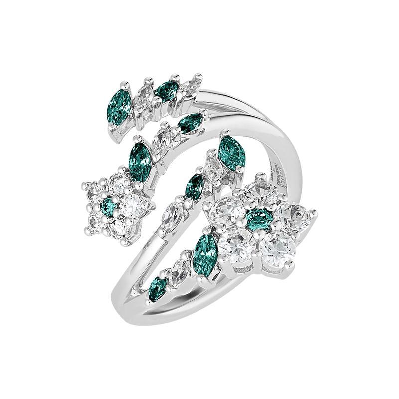 スワロフスキー レディース リング アクセサリー Botanical Ring CZ Emerald