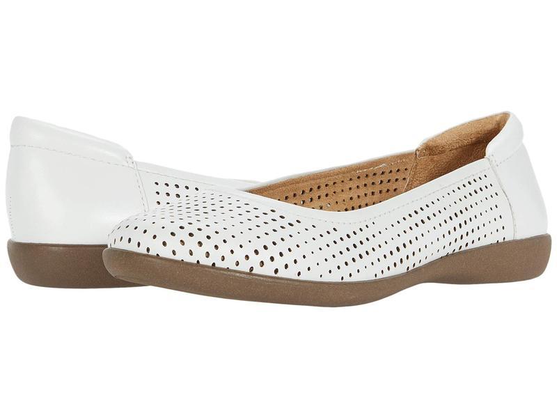 ナチュライザー レディース サンダル シューズ Flexy 2 White Leather