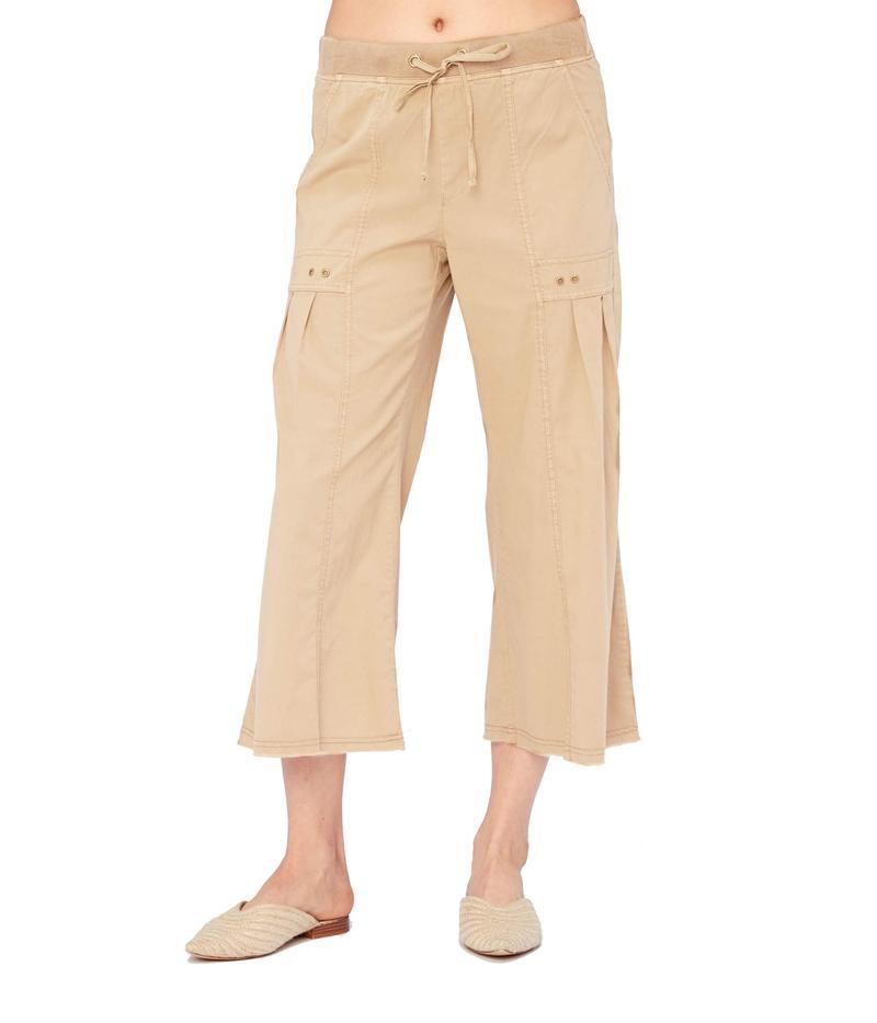 エックスシーブイアイ レディース カジュアルパンツ ボトムス Mairead Pants in Stretch Poplin Parchment Pigme