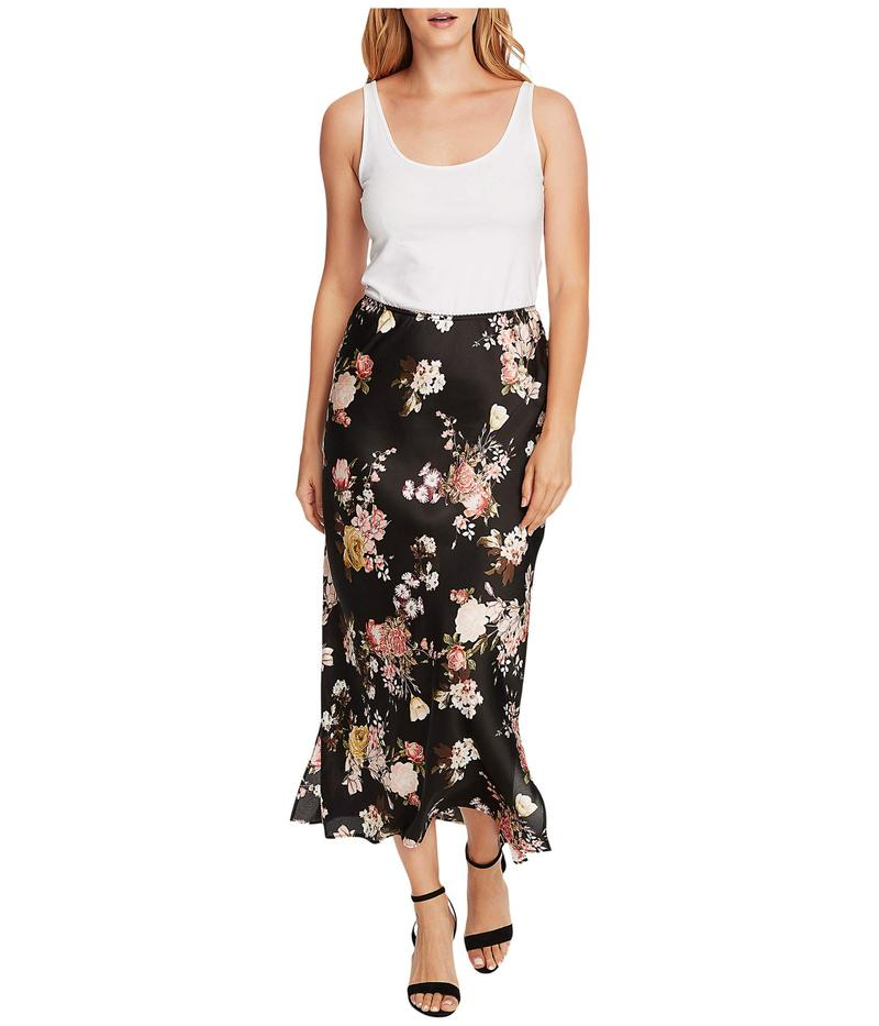 ヴィンスカムート レディース スカート ボトムス Beautiful Blooms Maxi Skirt w/ Side Slits Rich Black