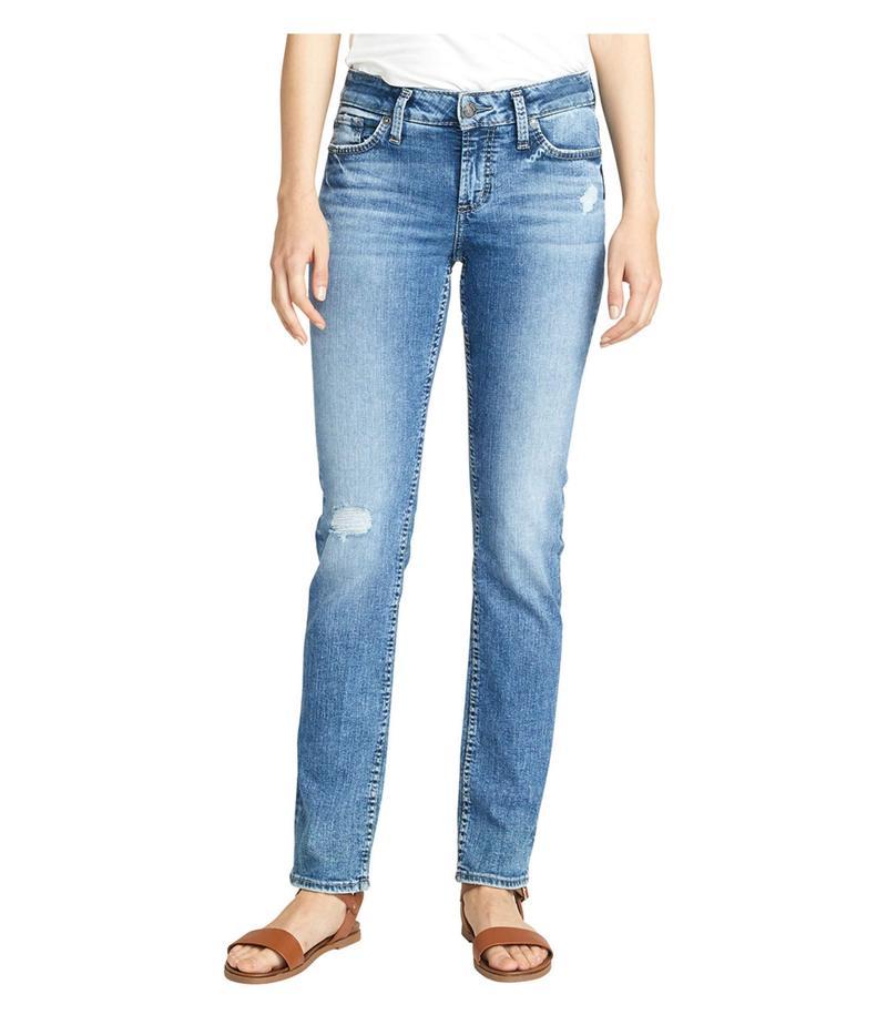 シルバー ジーンズ レディース デニムパンツ ボトムス Elyse Mid-Rise Curvy Fit Straight Leg Jeans L03403SJL271 Indigo