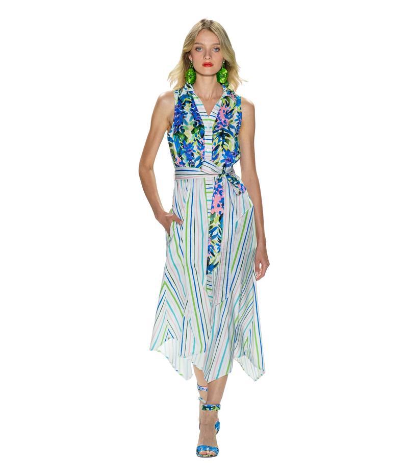 バッジェリーミシュカ レディース ワンピース トップス Mixed Print Runway Dress White Multi