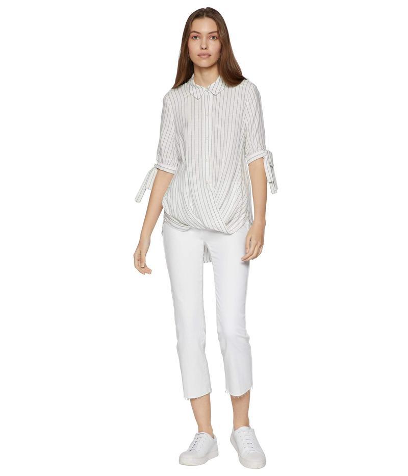 BCBジェネレーション レディース シャツ トップス Wrap Hem Tied Sleeve Blouse TRO1267177 Off-White