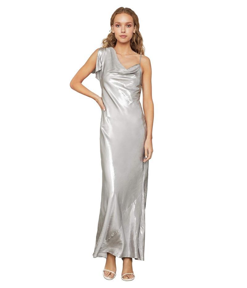 ビーシービージーマックスアズリア レディース ワンピース トップス Lame One Shoulder Gown Silver