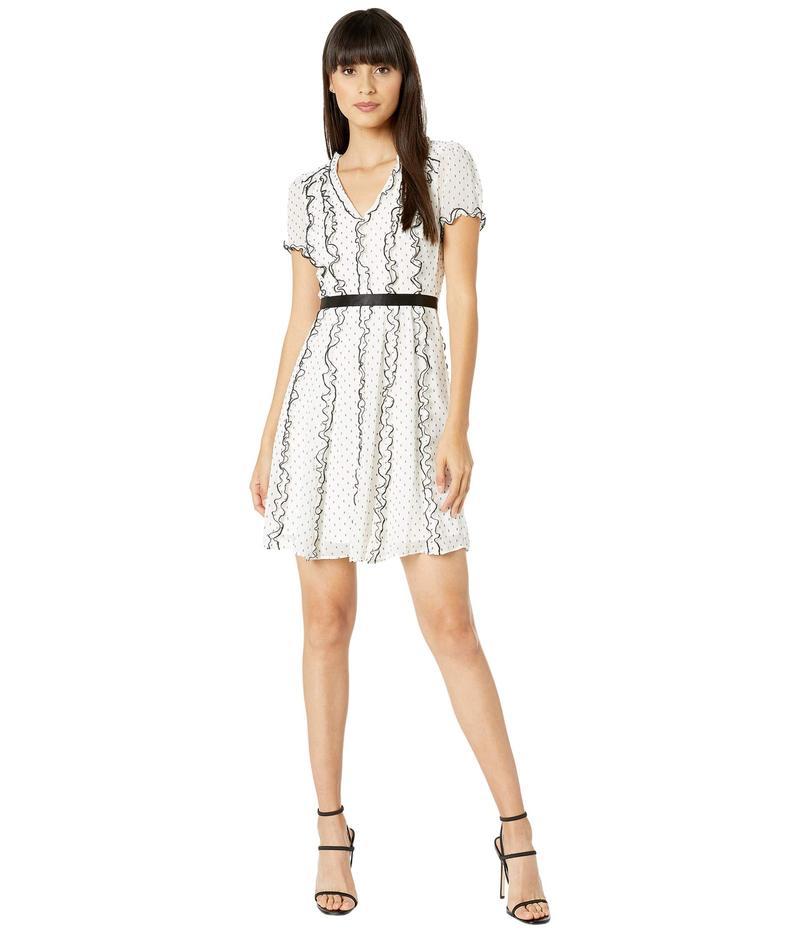 ビーシービージーマックスアズリア レディース ワンピース トップス Polka Dot Cocktail Dress Off-White Combo