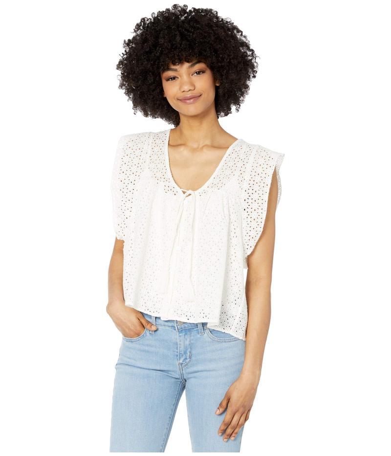 ビショップアンドヤング レディース シャツ トップス Nadia Flutter Sleeve Top White