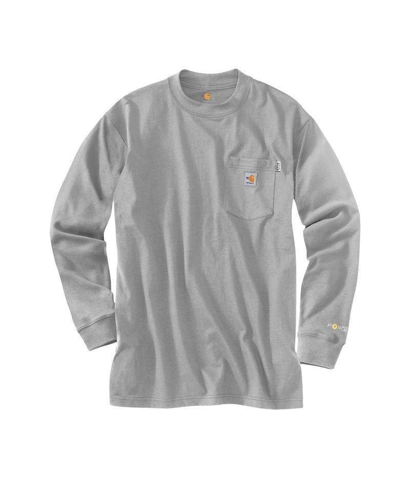カーハート メンズ シャツ トップス Big & Tall Flame-Resistant Force Cotton Long Sleeve T-Shirt Light Gray
