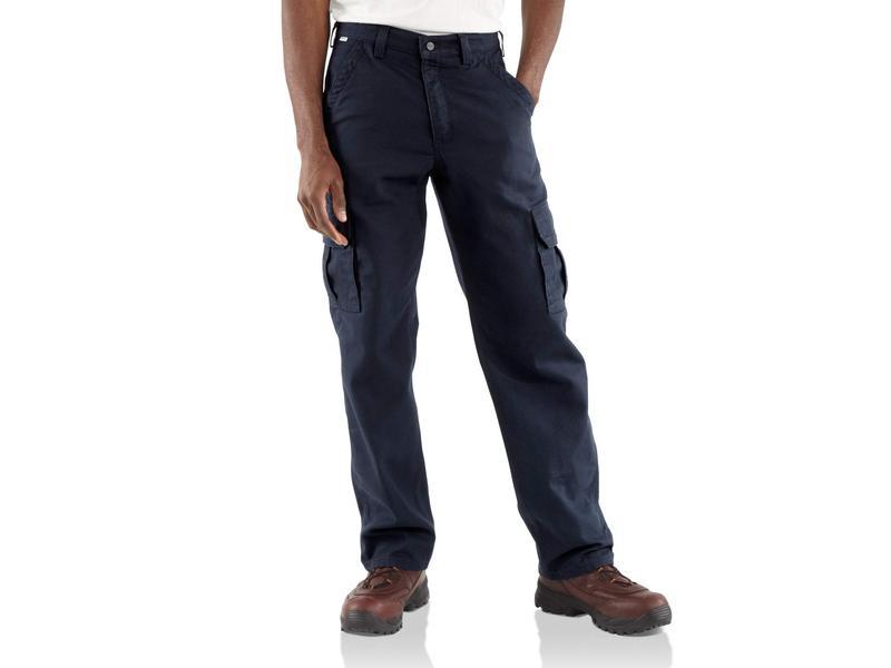 カーハート メンズ カジュアルパンツ ボトムス Big & Tall Flame-Resistant Canvas Cargo Pants Dark Navy