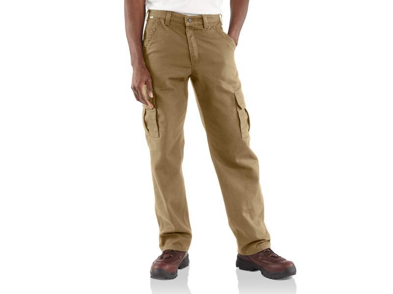 カーハート メンズ カジュアルパンツ ボトムス Big & Tall Flame-Resistant Canvas Cargo Pants Golden Khaki