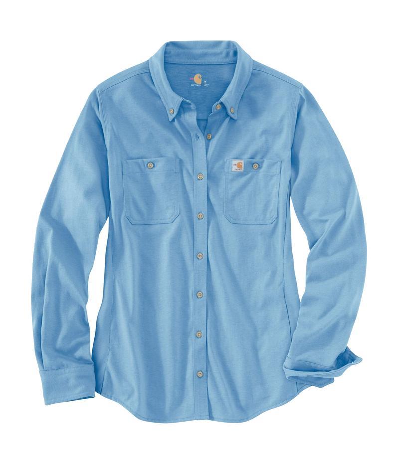 カーハート レディース シャツ トップス Flame-Resistant Force Cotton Hybrid Shirt Medium Blue