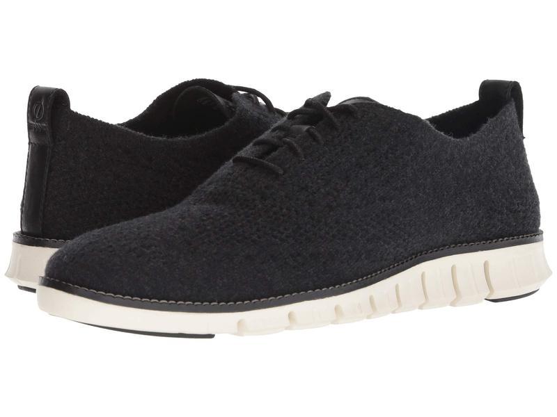 コールハーン メンズ オックスフォード シューズ Zerogrand Stitchlite Wool Oxford Black Wool/Ivor
