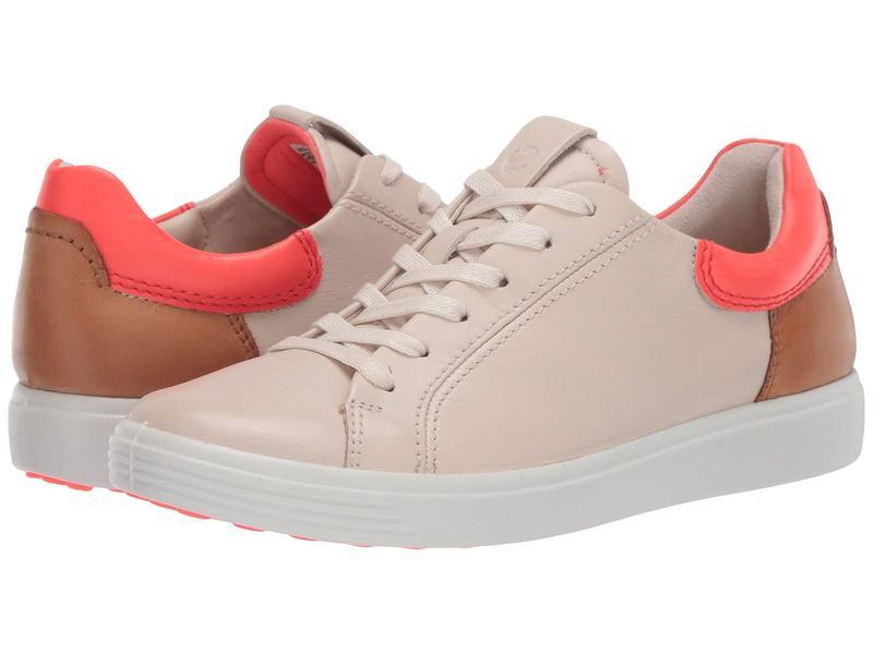 エコー レディース スニーカー シューズ Soft 7 Street Sneaker Vanilla/Coral N