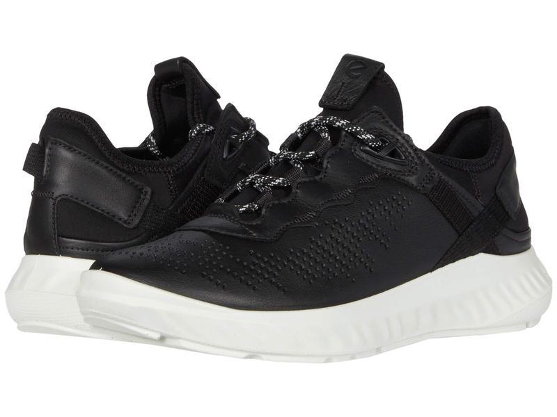 エコー レディース スニーカー シューズ ST.1 Lite Sneaker Black/Black Cow