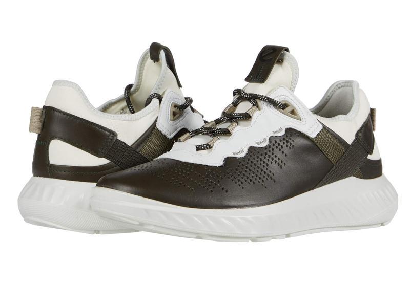 エコー メンズ スニーカー シューズ ST.1 Lite Sneaker Deep Forest/Whi