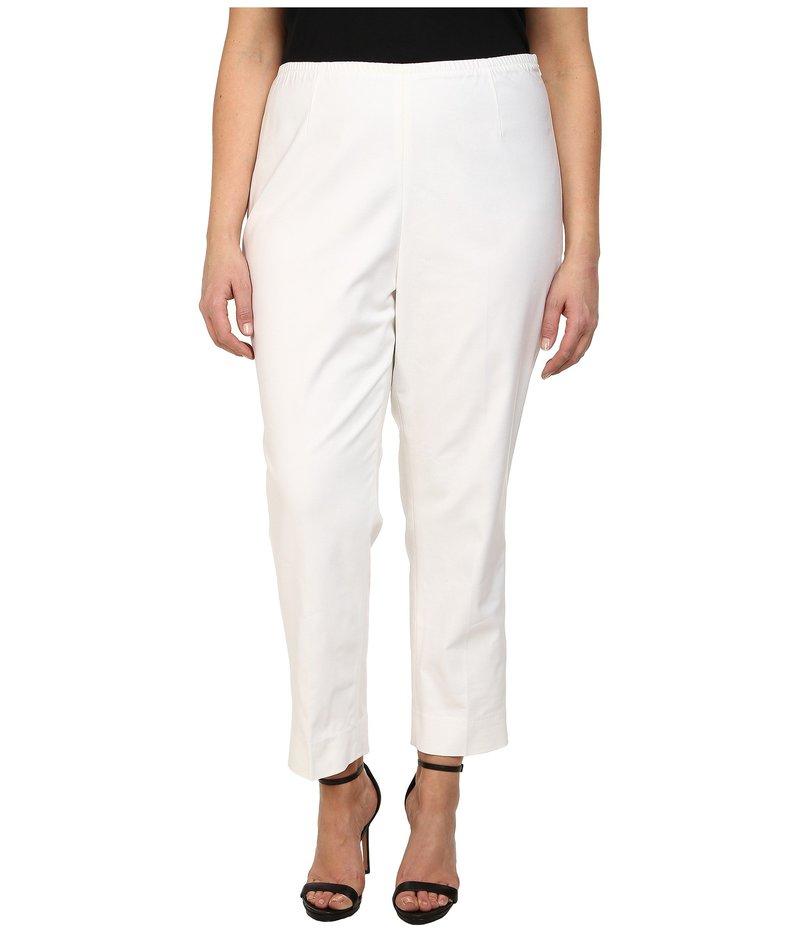 ニックプラスゾーイ レディース カジュアルパンツ ボトムス Plus Size Perfect Side Zip Ankle Pants Paper White