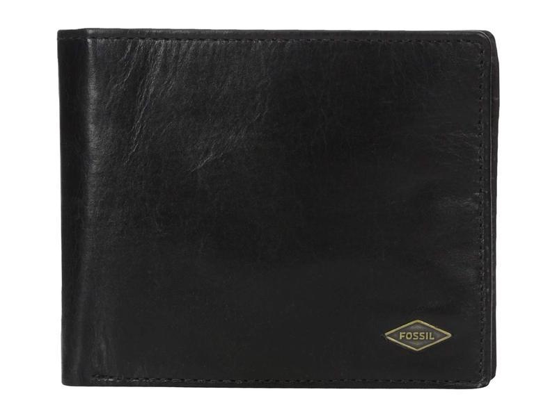 フォッシル メンズ 財布 アクセサリー Ryan RFID Large Coin Pocket Bifold Black