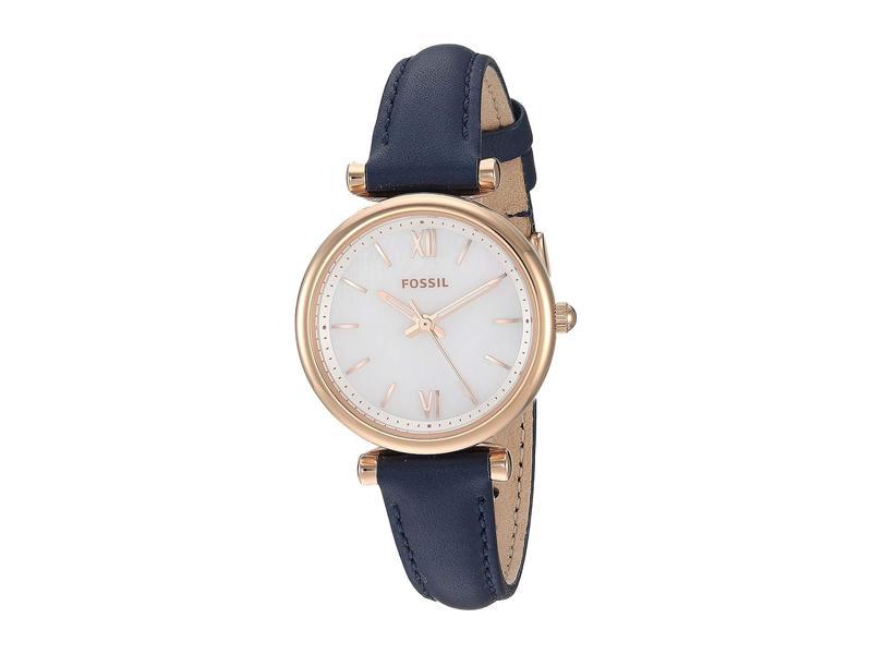 フォッシル レディース 腕時計 アクセサリー Carlie Mini Three-Hand Leather Watch ES4502 Rose Gol