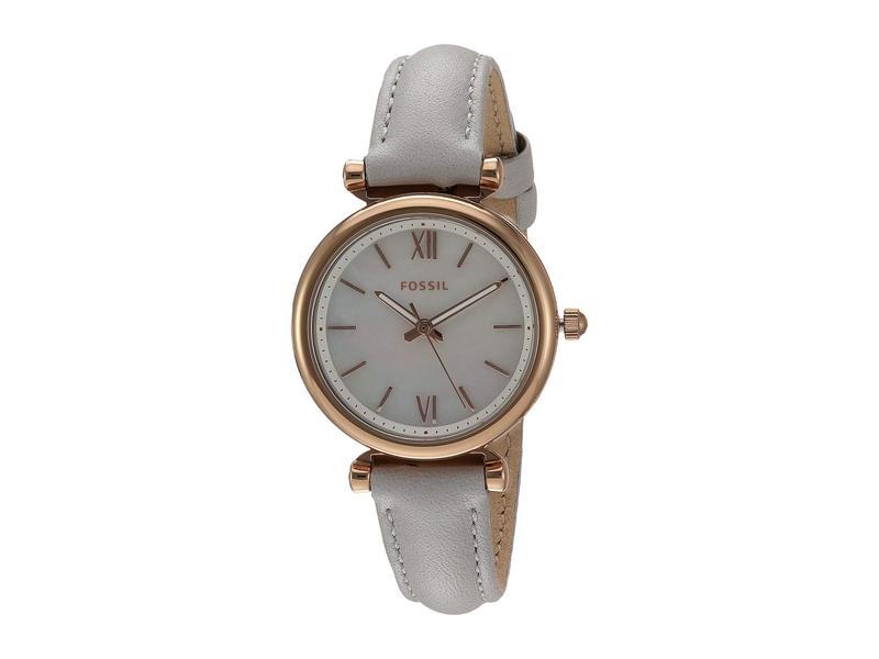 フォッシル レディース 腕時計 アクセサリー Carlie Mini Three-Hand Leather Watch ES4529 Rose Gol