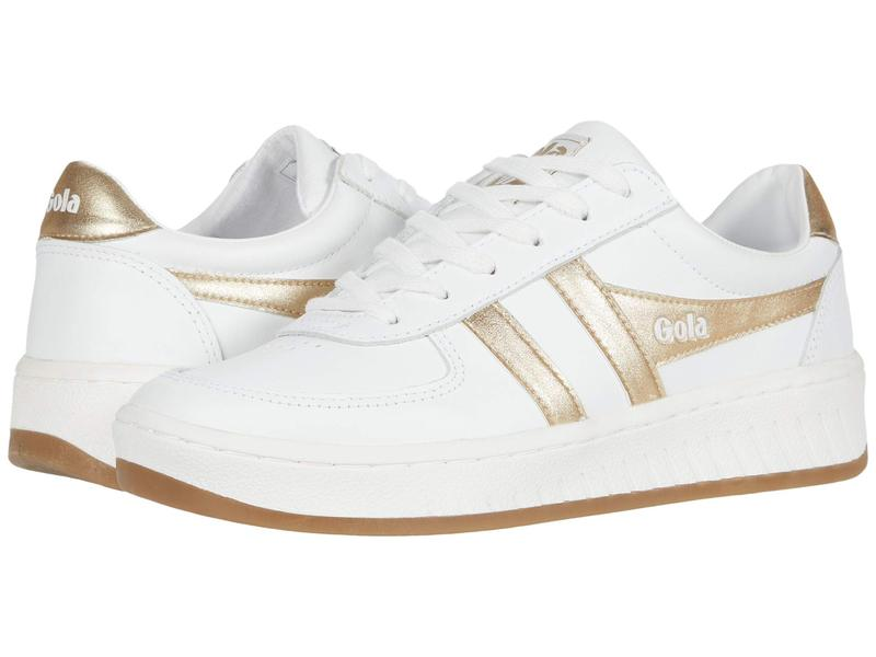 ゴラ レディース スニーカー シューズ Grandslam Leather White/Gold