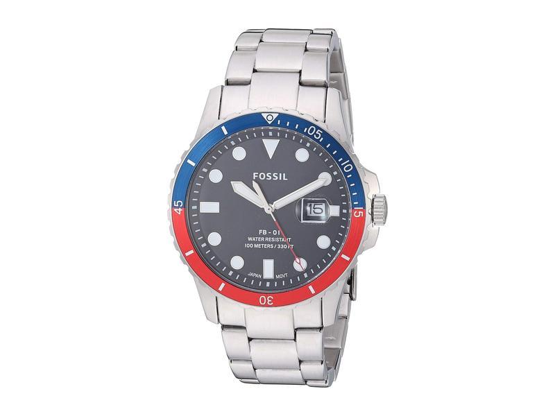 フォッシル メンズ 腕時計 アクセサリー FB-01 Three-Hand Date Men's Watch FS5657 Silver S