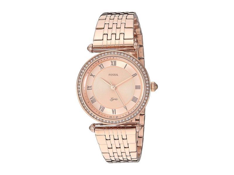 フォッシル レディース 腕時計 アクセサリー Lyric Three-Hand Watch ES4711 Rose Gol