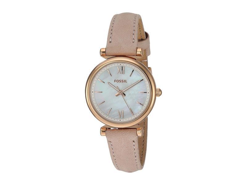 フォッシル レディース 腕時計 アクセサリー Carlie Mini Three-Hand Leather Watch ES4699 Rose Gol