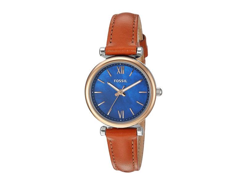 フォッシル レディース 腕時計 アクセサリー Carlie Mini Three-Hand Leather Watch ES4701 Silver/R