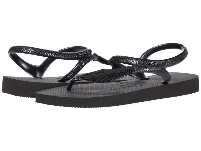 ハワイアナス レディース サンダル シューズ Flash Urban Plus Sandal Black/Dark Grey