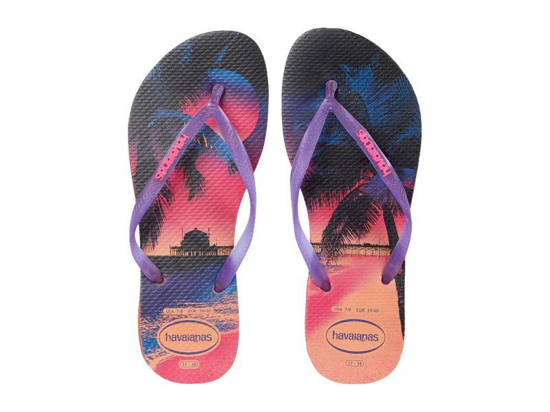 ハワイアナス レディース サンダル シューズ Slim Paisage Flip Flops Coral New