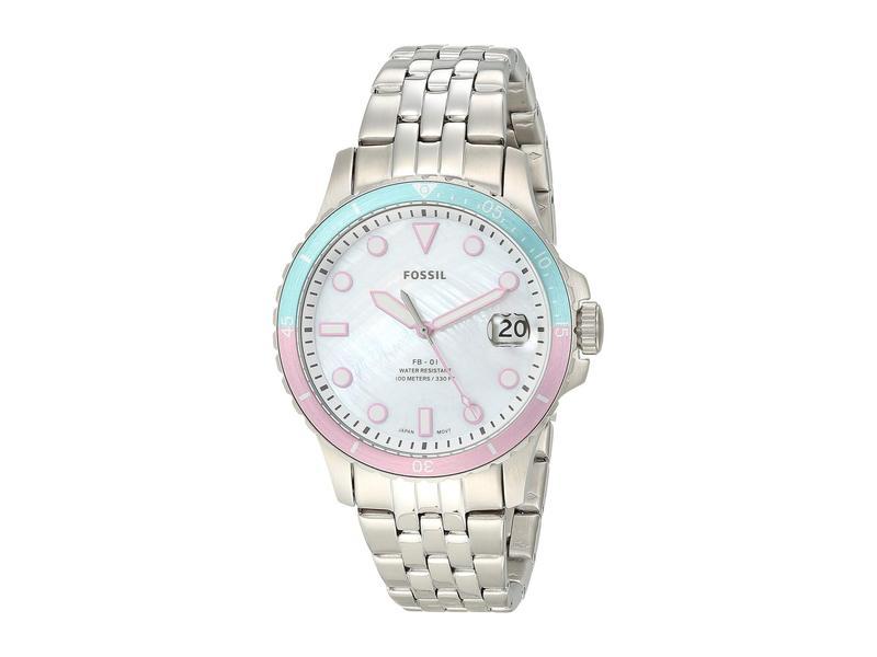 フォッシル レディース 腕時計 アクセサリー FB-01 Three-Hand Date Women's Watch ES4741 Silver S