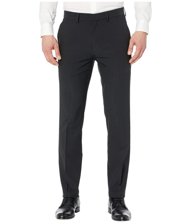 ケネスコール メンズ カジュアルパンツ ボトムス Technicole Stretch Plain Weave Slim Fit Flat Front Flex Waistband Dress Pants Black