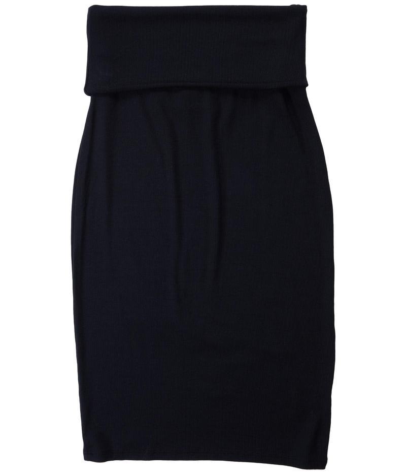 ラメイド レディース スカート ボトムス Triny 2x1 Modal Stretch Rib Skirt Black